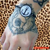 Armband 25mm Anker schwarz weiss