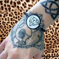Armband 25mm Diamant