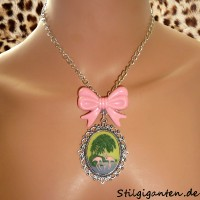 Kette Flamingo Schleife rosa