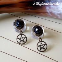 plugs-pentagramm-messing-schw-stein