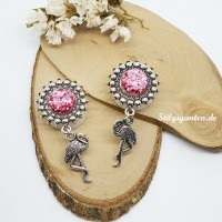 Plugs Flamingo rosa glitzer