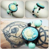Armband Rosen Light Blue
