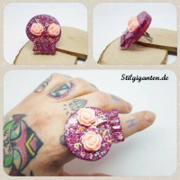 Ring Skull Pink Rosen