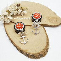 Plugs Anker Dots rot weiss
