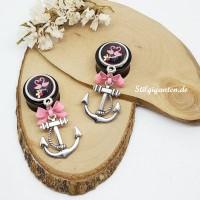 Plugs Anker silber Flamingo