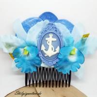 Haarkamm Blau Anker Rahmen