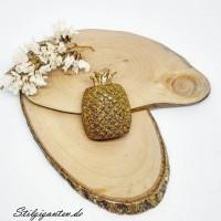 Ananas Brosche
