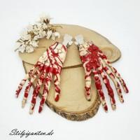 Skelett Hand Haarspangen SET