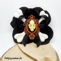 Blume Fledermausschaedel schwarz