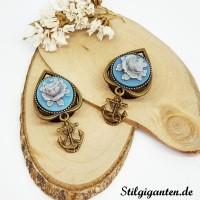 Plugs Blaue Blume ANKER MEssing Klein