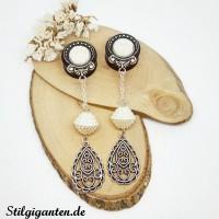 Plugs haengerchen Perle Ornamentropfen GROSS