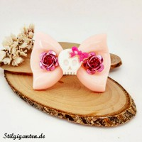 Ring Schleife Skull Rosen Rosa