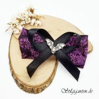 Schleife lila Fledermaus NEU