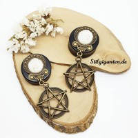 Plugs Pentagramm weisse Druse