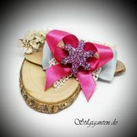 Schleife weihnachten stern pink