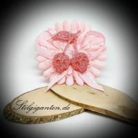 Blume Kirsche Rosa Glitzer