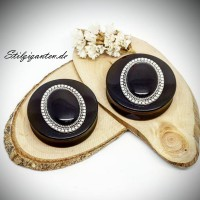 Plugs 40mm schwarz oval