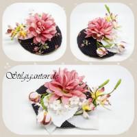 Headpiece Zarte Bluete und feine Orchideen