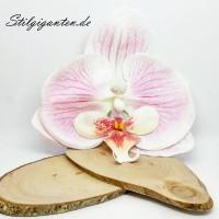Blume Orchidee weiss mit PINK NEU GROSS