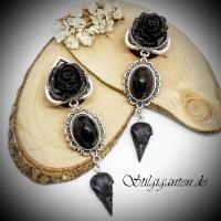Plugs Schwarzer Raven skull
