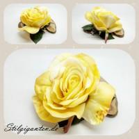 Rose zart gelb gross