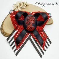 Schleife GEMME rot schwarz