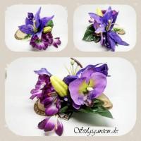 Blume LILA schleife Dots