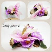 Haarkamm Lila Orchidee