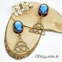 Plugs Blauer Stein witchsymbol