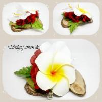 Blume Frangipaniweiss GROSS rot