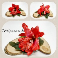 Blume rote Orchidee NEU