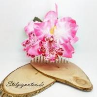 Haarkamm Rosa Orchidee NEU