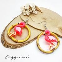 Ohrhaenger bambus flamingo