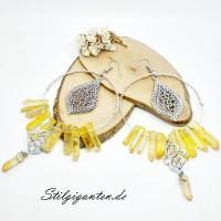 Ohrhaenger gelbe Kristalle